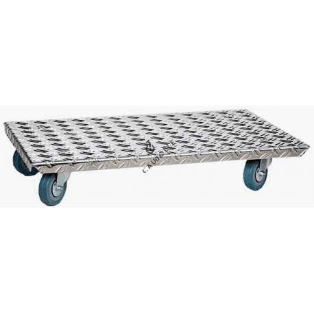Aluminium platform trolley with castors max load weight 180 kg Particularly practical for moving furniture, heavy plant pots, electrical white goods, etc.