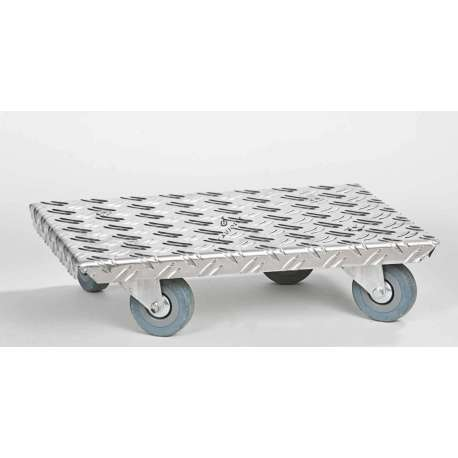 Aluminium platform trolley with castors max load weight 150 kg Particularly practical for moving furniture, heavy plant pots, electrical white goods, etc