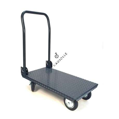 Folding trolley in 35 mm high-resistance sheet metal.