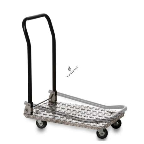 This trolley in 25 mm thick aluminium