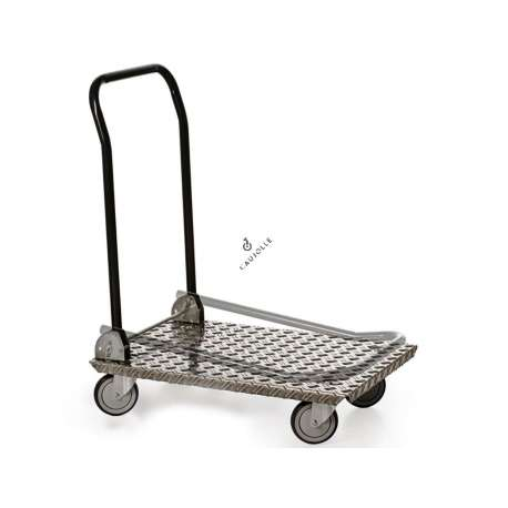 Trolley in 2.5 mm thick aluminium 150 kg load