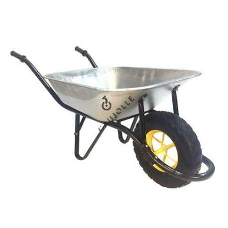Single-wheeled puncture-proof wheelbarrow (80 L), maximum load capacity 180 kg.