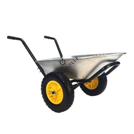 Two-wheeled puncture-proof wheelbarrow (60 L), 120 kg capacity.