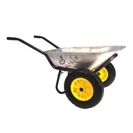 Wheelbarrow with two puncture-proof wheels (90 L), max load capacity 150 kg.