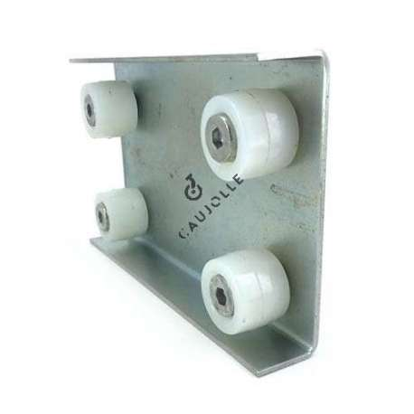 4-roller guide for 38 mm thick door.