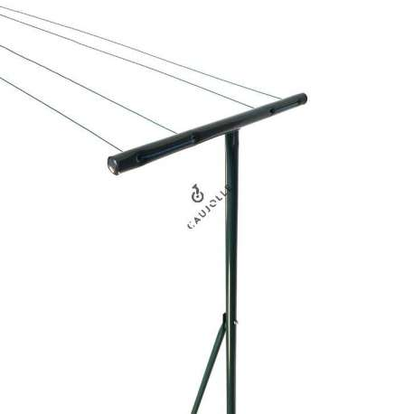 Outdoor clothes line in grey lacquered steel, with 20 m of washing line.