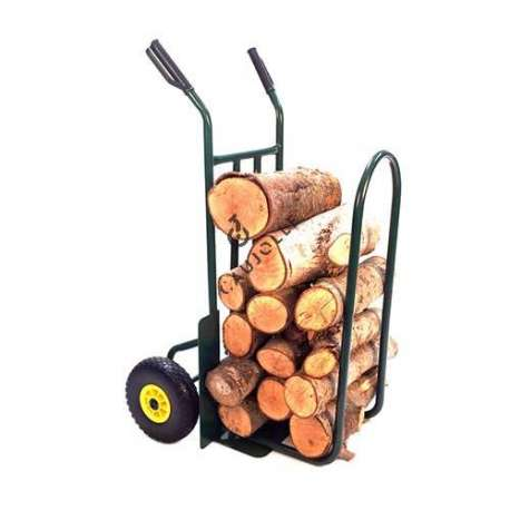 Sack truck for logs with 2 puncture proof wheels, 260 mm diameter.