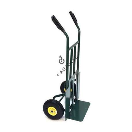 Folding toe sack truck with 2 puncture-proof wheels, diameter 260 mm.