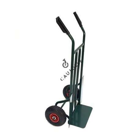 Classic trolley with fixed platform, with 2 inflated wheels 260 mm diameter.