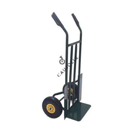 Classic sack truck, fixed toe, 2 puncture-proof wheels of 260 mm diameter.