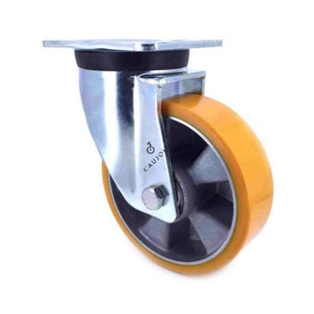 Industrial castor wheel in polyurethane by excellence! 160 mm diameter and 600 kg load.