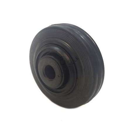 Industrial usage rubber wheel 125 mm diameter with 20 mm bore