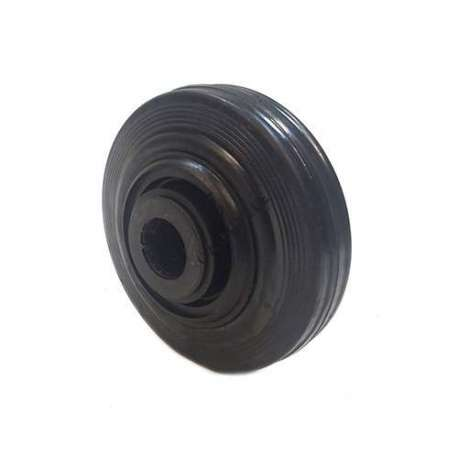 Industrial usage rubber wheel 125 mm diameter with 25 mm bore