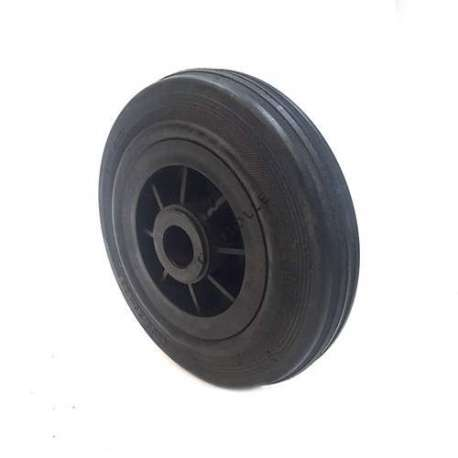 Industrial usage rubber wheel 200 mm diameter with 25 mm bore.