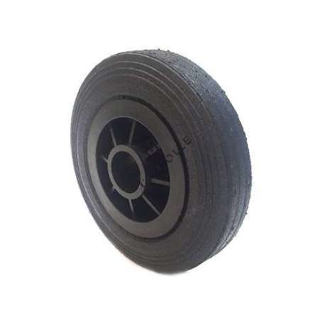 Industrial usage rubber wheel 200mm diameter, 37 mm bore.