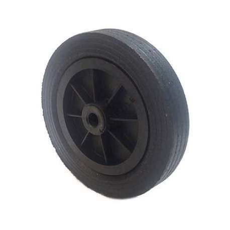 Industrial usage rubber wheel 250mm diameter, 20 mm bore.
