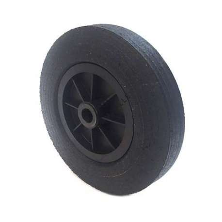Industrial usage rubber wheel 300 mm diameter, 25 mm bore.
