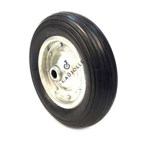 Rubber agricultural wheel 400 mm diameter with bearings.
