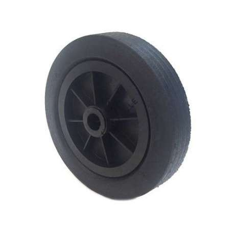 Industrial usage rubber wheel 250 mm diameter, 25 mm bore.
