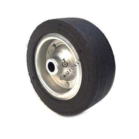 Wide wheel 250 mm diameter, with 25 mm bearings.