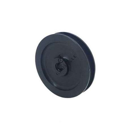 Single pulley 70 mm diameter in black polypropylene.
