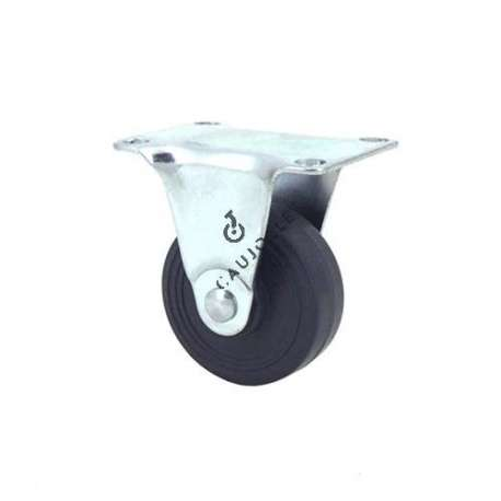 Furniture castor wheel no-swivel plate, 42 mm diameter.