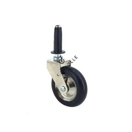Swivel furniture castor with fixed smooth stem, diameter 50 mm.