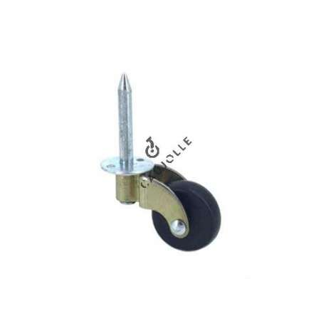 Furniture steel and nylon castor wheel 29 mm diameter