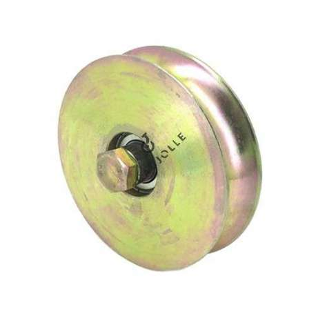 120 mm diameter roller, for thin steel door with round horn.