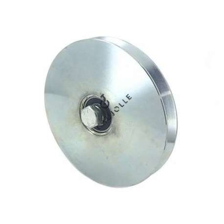 160 mm diameter roller, for thin steel door with triangular groove.