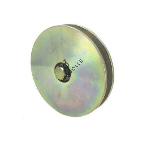 160 mm diameter steel wheel for door, wide square groove