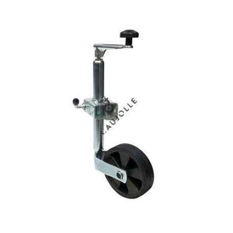 This 160 mm diameter universal jockey wheel or jockey prop, features as universal, knows how to stabilise all your trailers, caravans, camping cars...