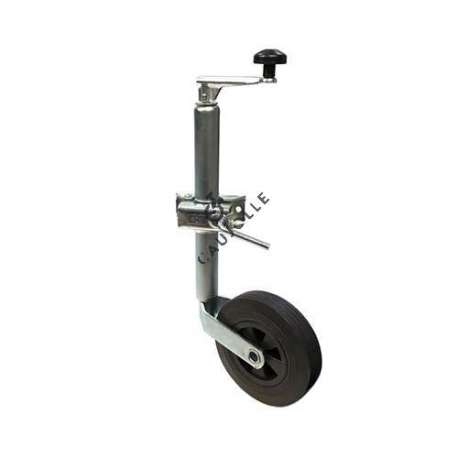 This 200 mm diameter universal jockey wheel or jockey prop, features as universal, knows how to stabilise all your trailers, caravans, camping cars...
