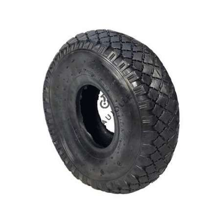 Standard tread tyre in rubber 260 mm diameter.