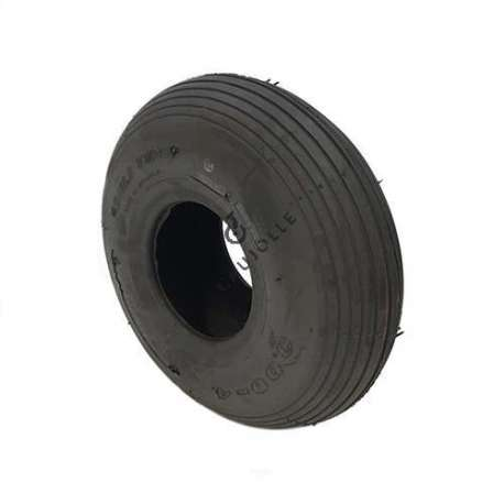 Standard straight tread tyre in rubber 260 mm diameter.