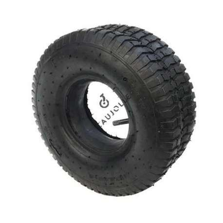 Set 345 mm diameter tyre with 6-inch rim and air chamber in rubber.
