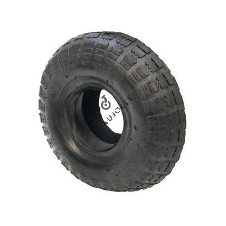 Set 260 mm diameter turf tyre with 4-inch rim and air chamber in rubber.