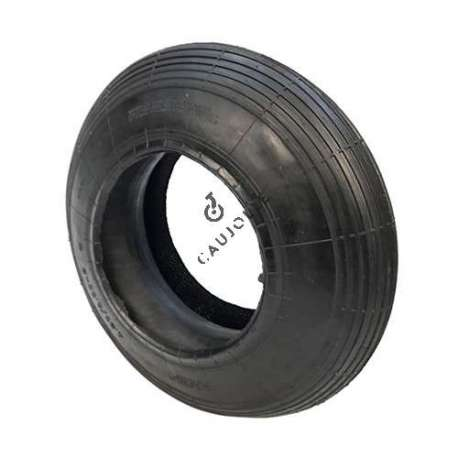 Set 400 mm diameter tyre with 8-inch rim and air chamber in rubber.