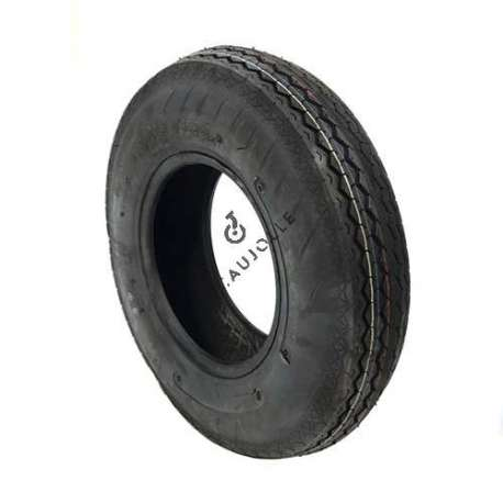 6-ply reinforced tyre 400 mm diameter with 8-inch rim in rubber.