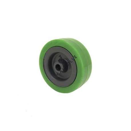 Industrial green usage wheel with PVC tyre 65 mm diameter