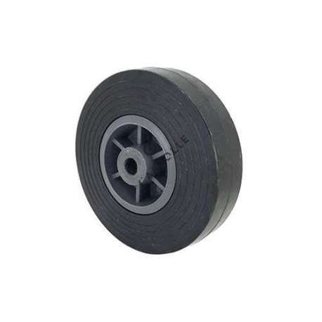 Small rubber wheel 150 mm diameter, slick tyre, smooth hub, (without bearings).