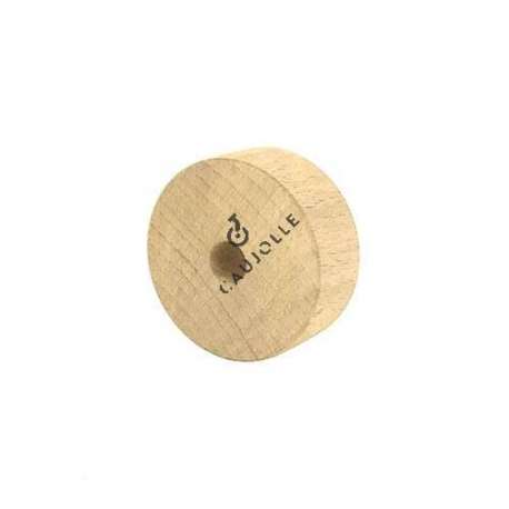 A 50 mm diameter wooden wheel perfect for any furnished environment.