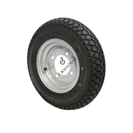 Complete road trailer wheel diameter 382 mm equivalent to 3.50-8