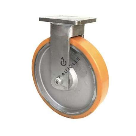 Fixed castor for goods handling in cast iron and polyurethane diameter 400 mm
