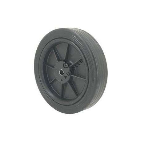 Black plastic wheel 125mm diameter 8mm bore S2011