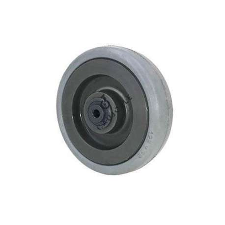 Solid wheel in rubber with ball bearings, diameter 125