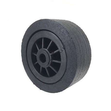 Wide rubber wheel with plastic rim diameter 200 mm 25 mm bearings
