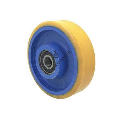 Industrial wheel with polyurethane tyre and cast iron hub 150 mm and width 50 mm - SFPU 150