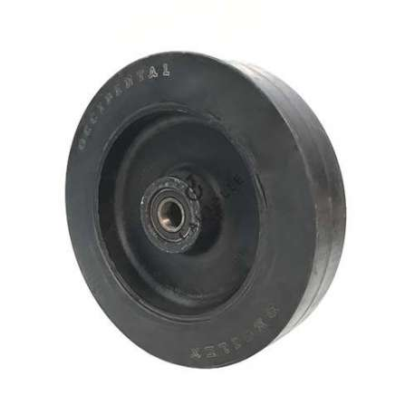 Rubber and cast iron wheel for goods handling 350 mm - S2750F350
