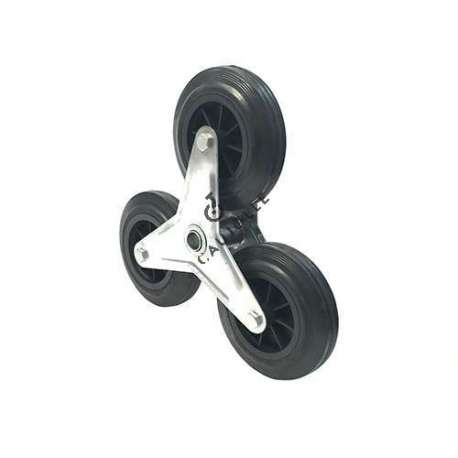 Puncture-proof high density polyurethane foam wheel with metal rim, diameter 260 mm with 25 mm ball bearing crown.